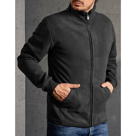 Men`s Double Fleece Jacket - 7971 in Graphite (Solid) Light Grey (Solid) von Promodoro (Artnum: E7971