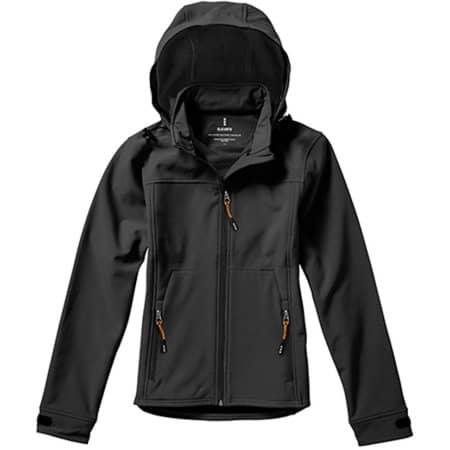 Langley Ladies` Softshell Jacket in Anthracite (Solid) von Elevate (Artnum: EL39312