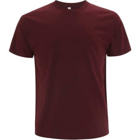 Unisex Organic T-Shirt in Burgundy von EarthPositive (Artnum: EP01