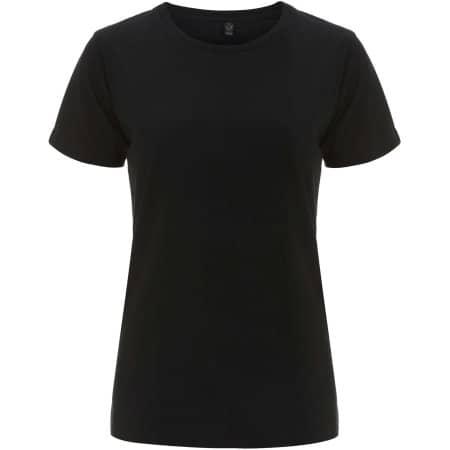 Women`s Classic Jersey T-Shirt in Black von EarthPositive (Artnum: EP02