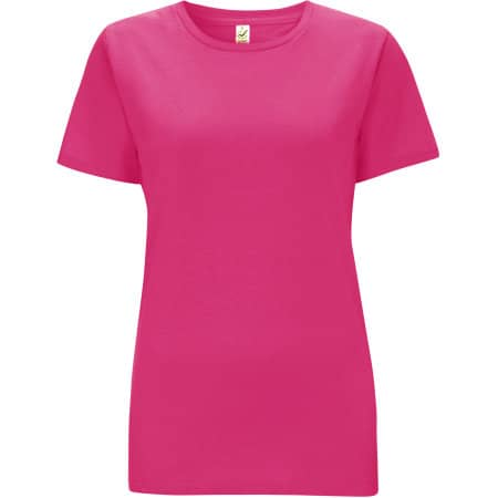 Women`s Classic Jersey T-Shirt in Bright Pink von EarthPositive (Artnum: EP02