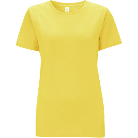 Women`s Classic Jersey T-Shirt in Buttercup Yellow von EarthPositive (Artnum: EP02
