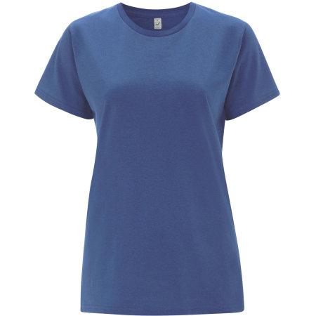 Women`s Classic Jersey T-Shirt in Faded Denim von EarthPositive (Artnum: EP02