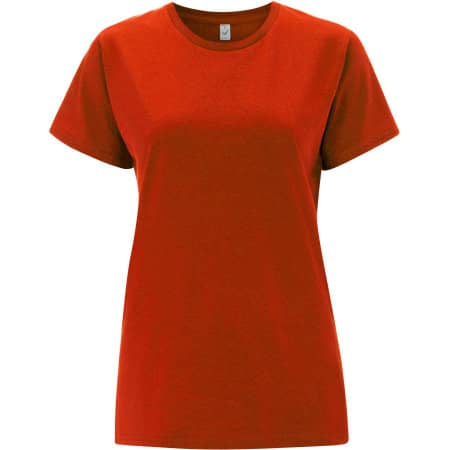 Women`s Classic Jersey T-Shirt in Red von EarthPositive (Artnum: EP02