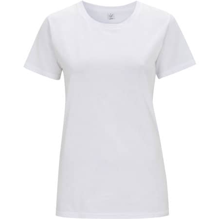 Women`s Classic Jersey T-Shirt in White von EarthPositive (Artnum: EP02