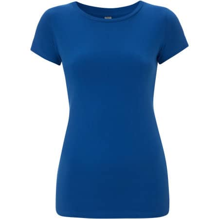 Earthpositive® Women`s Slim-Fit Organic T-Shirt in bright blue von EarthPositive (Artnum: EP04
