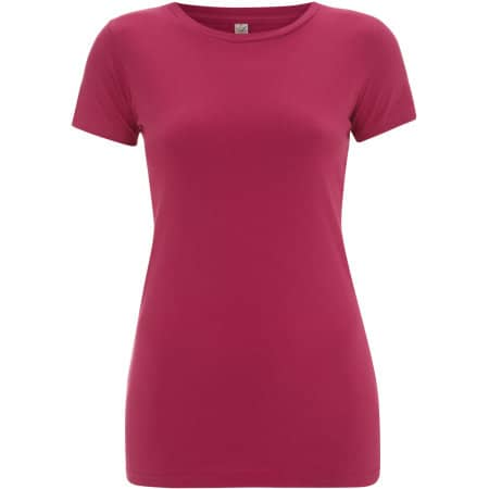 Earthpositive® Women`s Slim-Fit Organic T-Shirt in Hot Pink von EarthPositive (Artnum: EP04