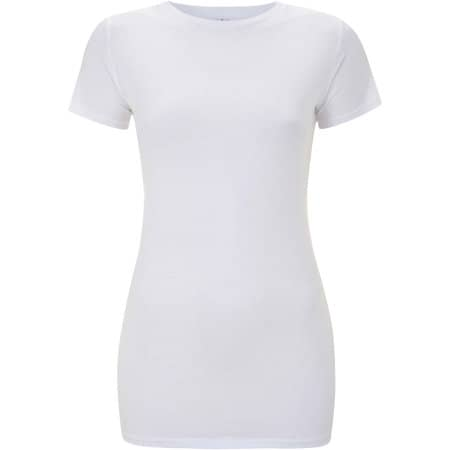 Earthpositive® Women`s Slim-Fit Organic T-Shirt in  White von EarthPositive (Artnum: EP04