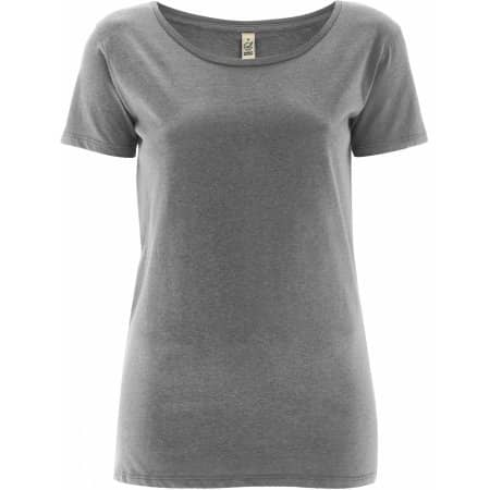 Women`s Open Neck T-Shirt von EarthPositive (Artnum: EP09
