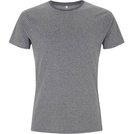 Mens/Unisex Organic T-Shirt in Black|Dark Heather von EarthPositive (Artnum: EP100