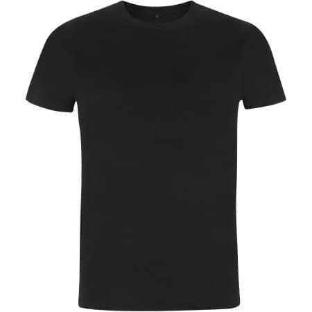 Mens/Unisex Organic T-Shirt in Black von EarthPositive (Artnum: EP100