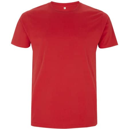 Mens/Unisex Organic T-Shirt in Red von EarthPositive (Artnum: EP100