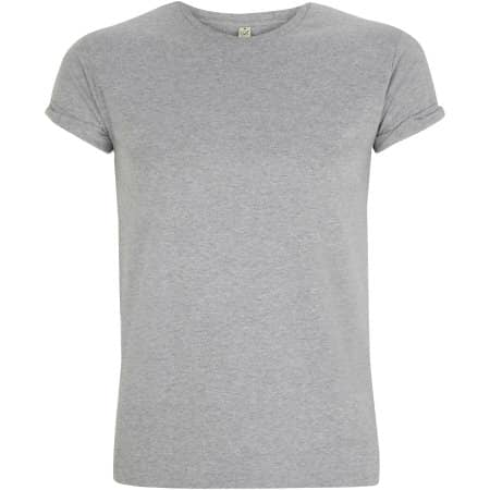 Earthpositive® Men's Organic Rolled-Up Sleeve T-Shirt in Melange Grey von EarthPositive (Artnum: EP11