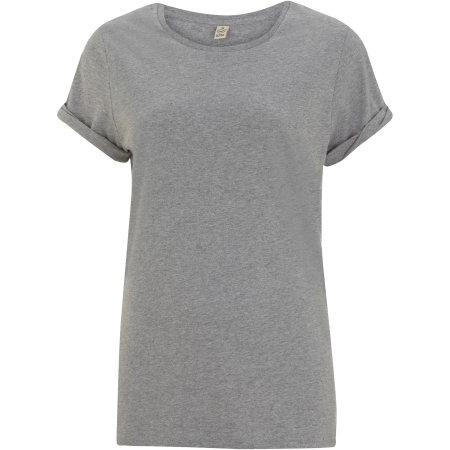 Women`s Rolled Sleeve T-Shirt in Melange Grey von EarthPositive (Artnum: EP12