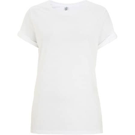 Women`s Rolled Sleeve T-Shirt in  White von EarthPositive (Artnum: EP12