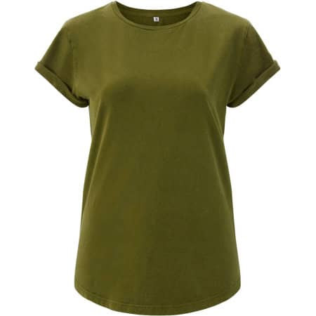 Women`s Rolled Up Sleeve Organic in Khaki Green von EarthPositive (Artnum: EP16