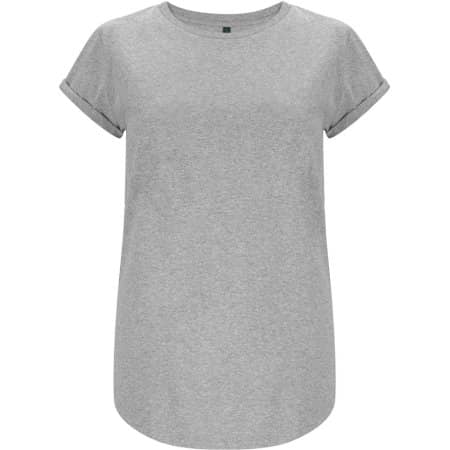 Women`s Rolled Up Sleeve Organic in Melange Grey von EarthPositive (Artnum: EP16