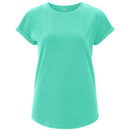 Women`s Rolled Up Sleeve Organic in Mint Green von EarthPositive (Artnum: EP16