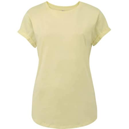 Women`s Rolled Up Sleeve Organic in Pale Lemon von EarthPositive (Artnum: EP16