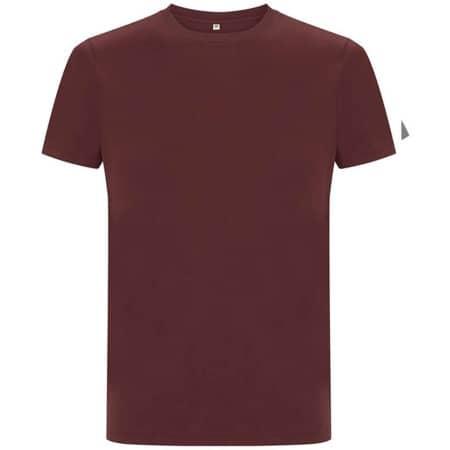 Unisex Organic Heavy T-Shirt in Burgundy von EarthPositive (Artnum: EP18
