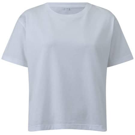 Womens Organic Short T-Shirt in  White von EarthPositive (Artnum: EP25