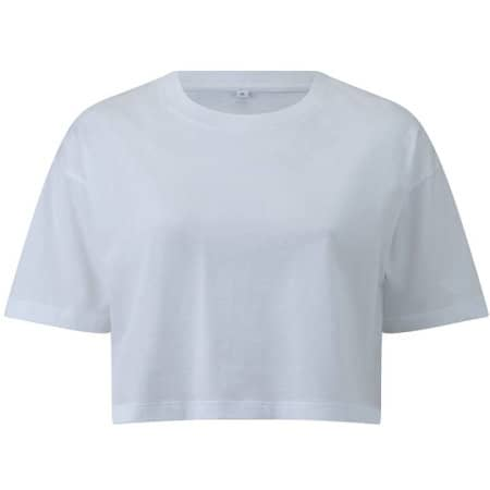 Womens Cropped T-Shirt in  White von EarthPositive (Artnum: EP26
