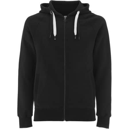 Unisex Zip-Up Hoody in Black von EarthPositive (Artnum: EP60Z