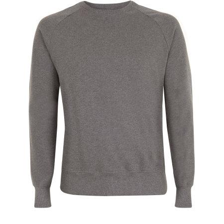 Mens Raglan-Sweatshirt in dark heather von EarthPositive (Artnum: EP65