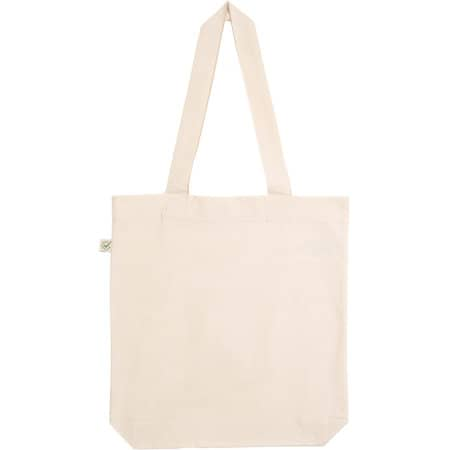 Fashion Tote Bag Baumwolltasche aus Biobaumwolle in Natural von EarthPositive (Artnum: EP75