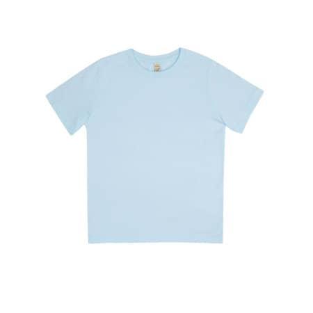 Earthpositive® Junior Classic Organic T-Shirt in Light Blue von EarthPositive (Artnum: EPJ01