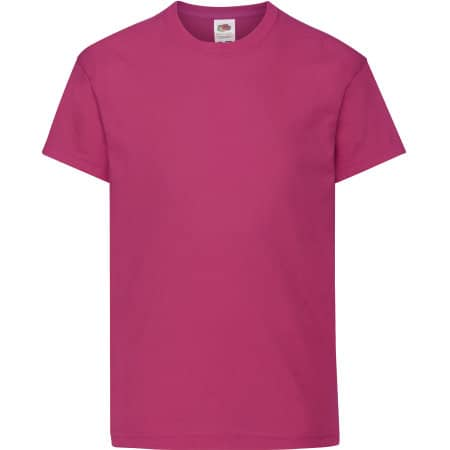 Kids Original T in Fuchsia von Fruit of the Loom (Artnum: F110K