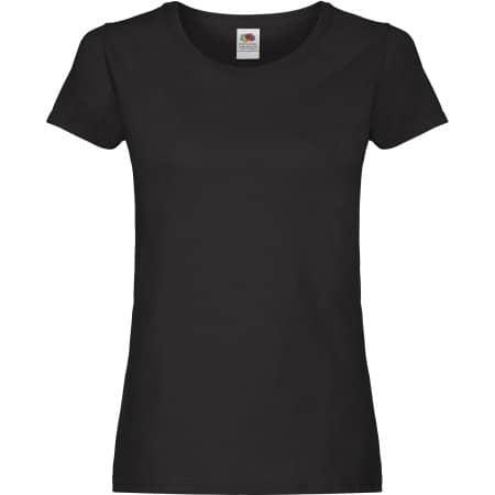 Ladies Original T in Black von Fruit of the Loom (Artnum: F111