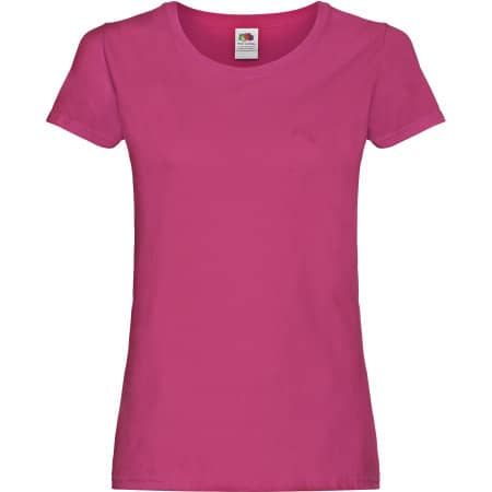Ladies Original T in Fuchsia von Fruit of the Loom (Artnum: F111