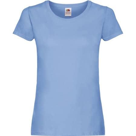 Ladies Original T in Sky Blue von Fruit of the Loom (Artnum: F111