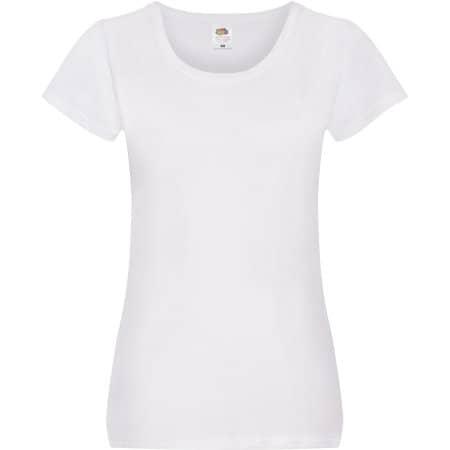 Ladies Original T in White von Fruit of the Loom (Artnum: F111
