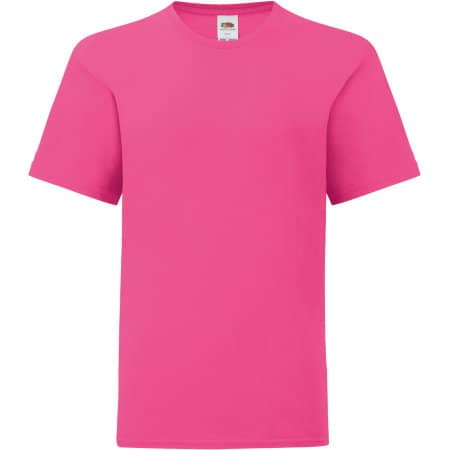 Kids Iconic T in Fuchsia von Fruit of the Loom (Artnum: F130K