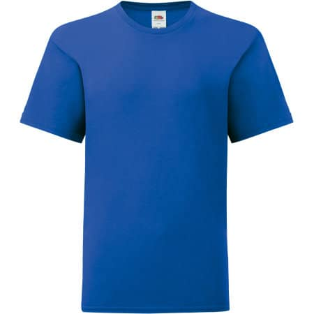 Kids Iconic T in Royal Blue von Fruit of the Loom (Artnum: F130K