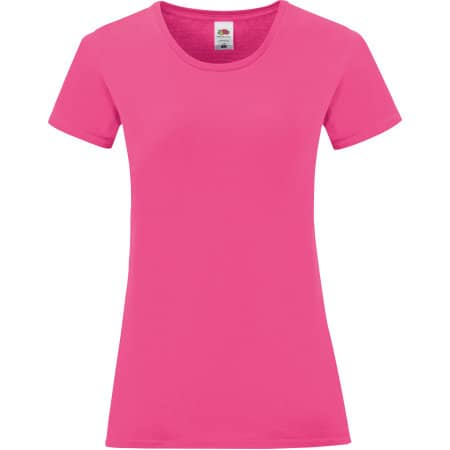 Ladies Iconic T in Fuchsia von Fruit of the Loom (Artnum: F131