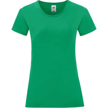 Ladies Iconic T in Kelly Green von Fruit of the Loom (Artnum: F131