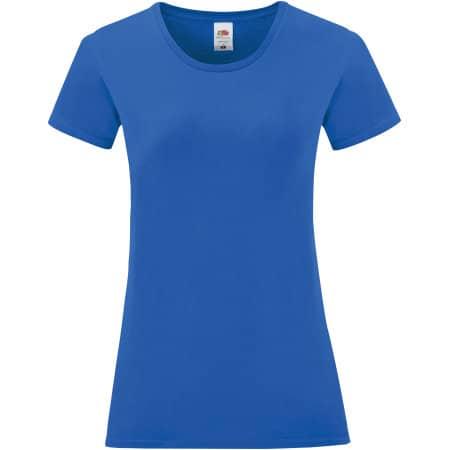 Ladies Iconic T in Royal Blue von Fruit of the Loom (Artnum: F131
