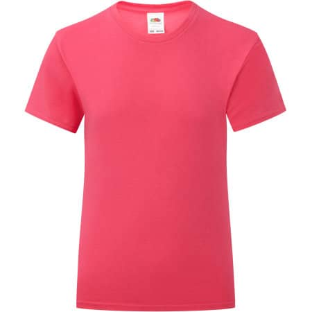 Girls Iconic T in Fuchsia von Fruit of the Loom (Artnum: F131K