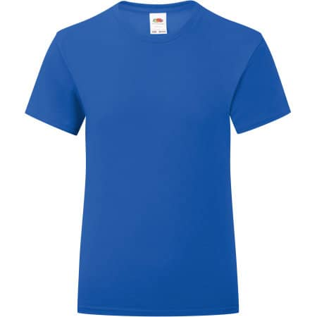 Girls Iconic T in Royal Blue von Fruit of the Loom (Artnum: F131K
