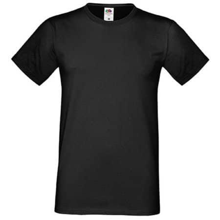 Men`s Sofspun® T in Black von Fruit of the Loom (Artnum: F150