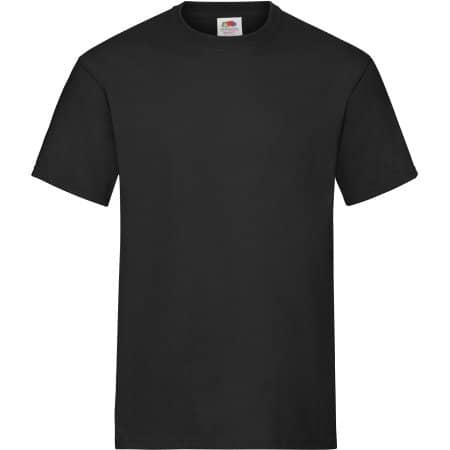 Heavy Cotton T in Black von Fruit of the Loom (Artnum: F182
