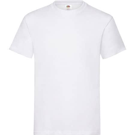 Heavy Cotton T in White von Fruit of the Loom (Artnum: F182