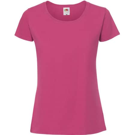 Ladies Ringspun Premium T in Fuchsia von Fruit of the Loom (Artnum: F186
