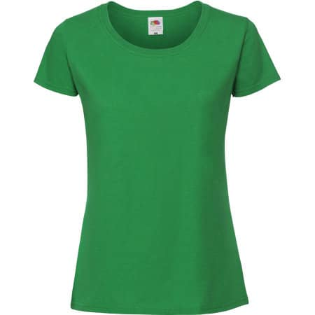 Ladies Ringspun Premium T in Kelly Green von Fruit of the Loom (Artnum: F186