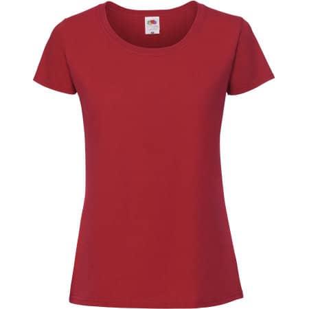 Ladies Ringspun Premium T in Red von Fruit of the Loom (Artnum: F186