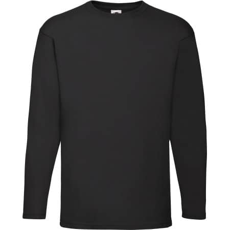 Valueweight Long Sleeve T in Black von Fruit of the Loom (Artnum: F240
