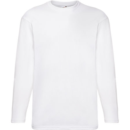 Valueweight Long Sleeve T in White von Fruit of the Loom (Artnum: F240